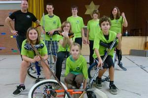 Einradhockey Gruppenbild