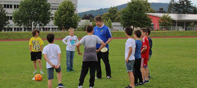Die Soccergirls am Projekttag im Gymnasium Weißenburg