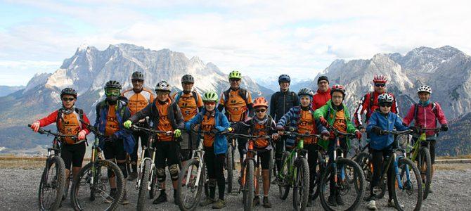 Abschlussfahrt der Radsportler nach Lermoos