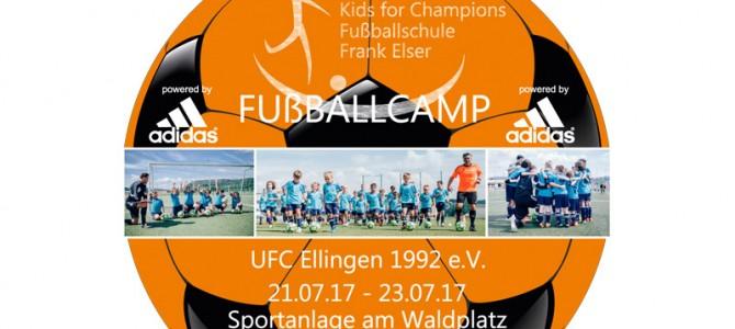 Die Fußballschule Kids für Champions mit dem ehem. Bundesligaprofi Frank Elser kommt vom 21. – 23. Juli zum UFC Ellingen!