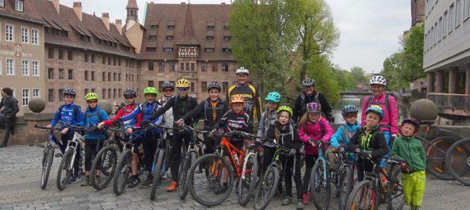 Jubiläums-Radtour des UFC Ellingen nach Nürnberg