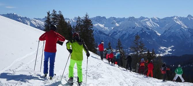 Skifahren in Grasgehren, die zweite