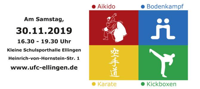 Schnuppertraining in Ellingen am 30.11.2019: Welcher Kampfsport-Typ bist Du?