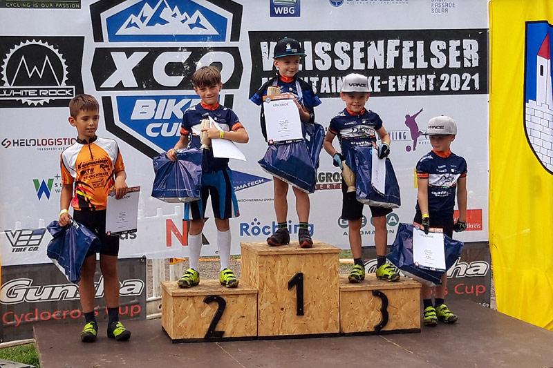 UFC-Radsportteam mit sehr guten Platzierungen beim XCO-Bikecup in Weißenfels (Sachsen-Anhalt) Kilian Krügl wird Achter bei MTB-Bundesligarennen, Ben Stadler Vierter